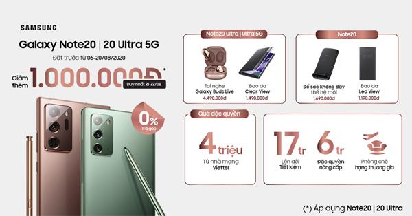 Lợi đơn lợi kép khi 'lên đời' Galaxy Note 20 ở Viettel Store
