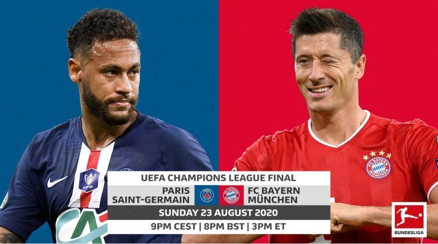 Xem trực tiếp Bayern vs PSG: Chung kết Champions League