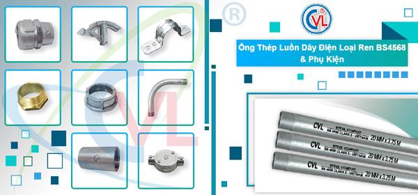 Cát Vạn Lợi sản xuất ống thép luồn dây điện ren hợp chuẩn BS4568