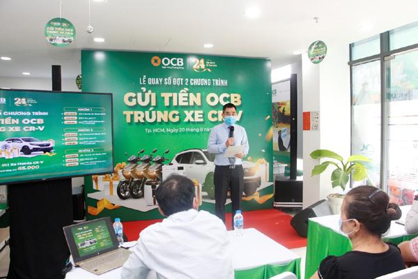 Thêm 24 khách hàng OCB may mắn nhận thưởng