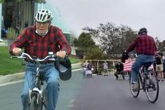 Cụ ông 95 tuổi hoàn thành mục tiêu đạp xe 100.000 dặm
