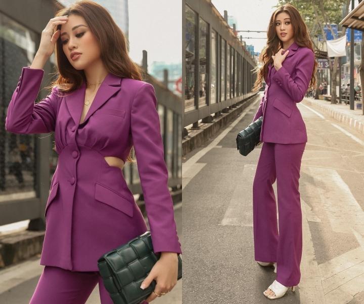 Khánh Vân, Lương Thuỳ Linh mới lạ với phong cách menswear