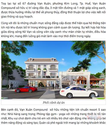 Quảng cáo bất động sản sai sự thật, doanh nghiệp bị phạt 100 triệu