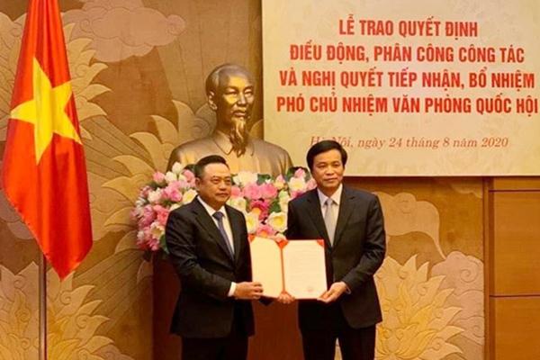 Ông Trần Sỹ Thanh làm Phó Chủ nhiệm Văn phòng Quốc hội