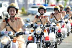 HCM City's 58-member female police escort team launched