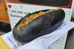 Enjoy the unique black banh mi of Quang Ninh