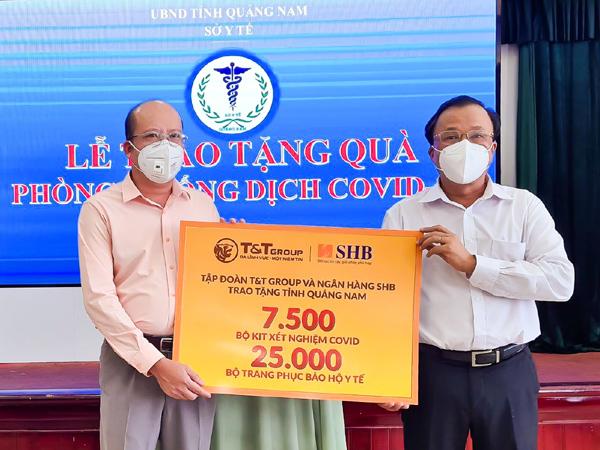 Doanh nghiệp bầu Hiển ủng hộ Quảng Nam hàng ngàn kit xét nghiệm Covid