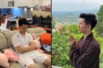 Rò rỉ hình ảnh diễn viên Trọng Hưng tìm đến cửa Phật sau scandal ngoại tình