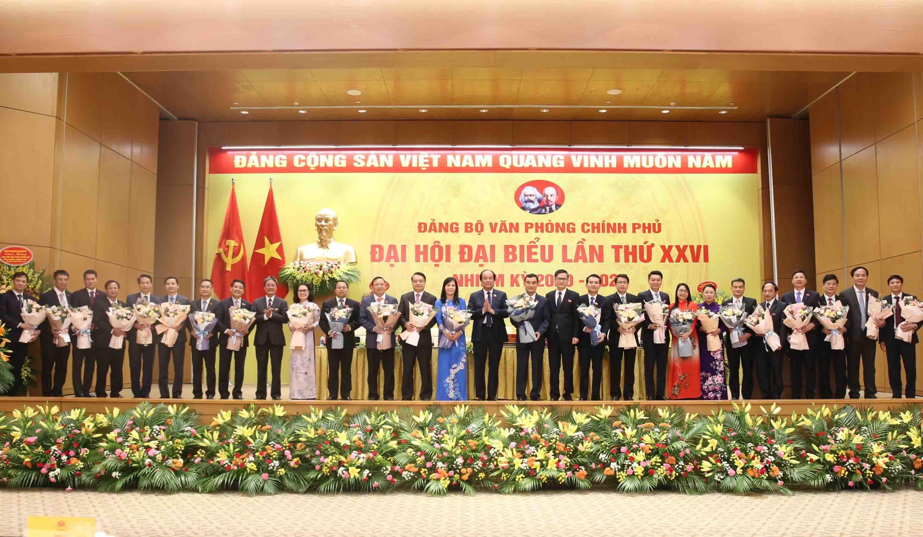 25 nhân sự được bầu vào BCH Đảng bộ Văn phòng Chính phủ nhiệm kỳ mới