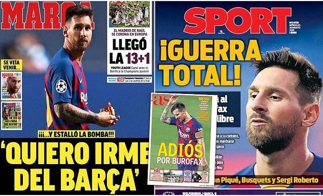 Phản ứng lạ của phòng thay đồ Barca khi Messi đòi ra đi