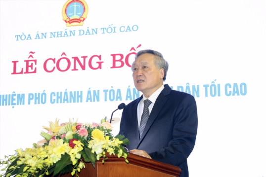 Ông Nguyễn Văn Tiến làm Phó Chánh án Tòa án nhân dân tối cao