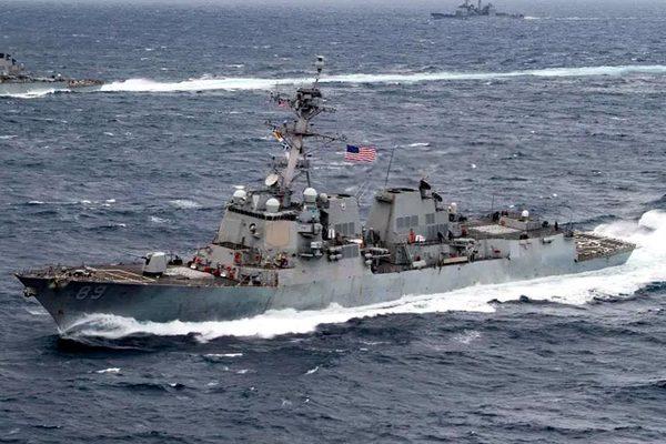 Sức mạnh chiến hạm Mỹ cử đến Hoàng Sa lúc Trung Quốc tập trận