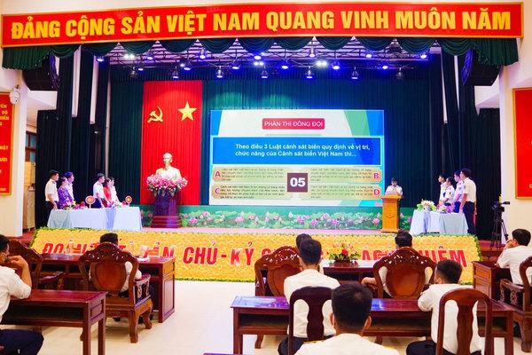 Đoàn thanh niên Vùng Cảnh sát biển 3 thi tìm hiểu về Luật Cảnh sát biển Việt Nam