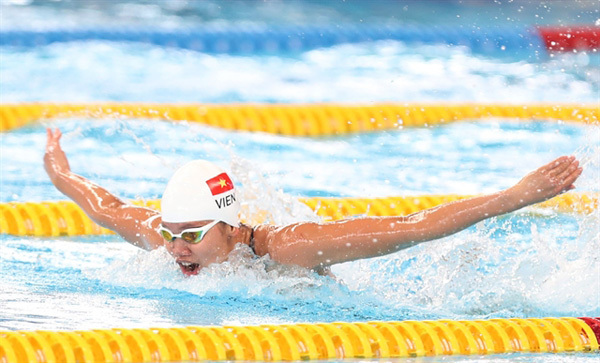 SEA Games 31,swimmer Nguyen Thi Anh Vien