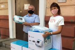 Các bệnh viện ở Ukraina trang bị máy thở của Vingroup