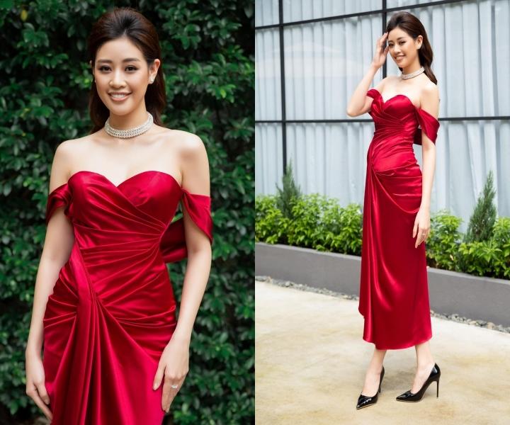 Thanh Hằng, Khánh Thi quyến rũ với váy dập ly lạ mắt
