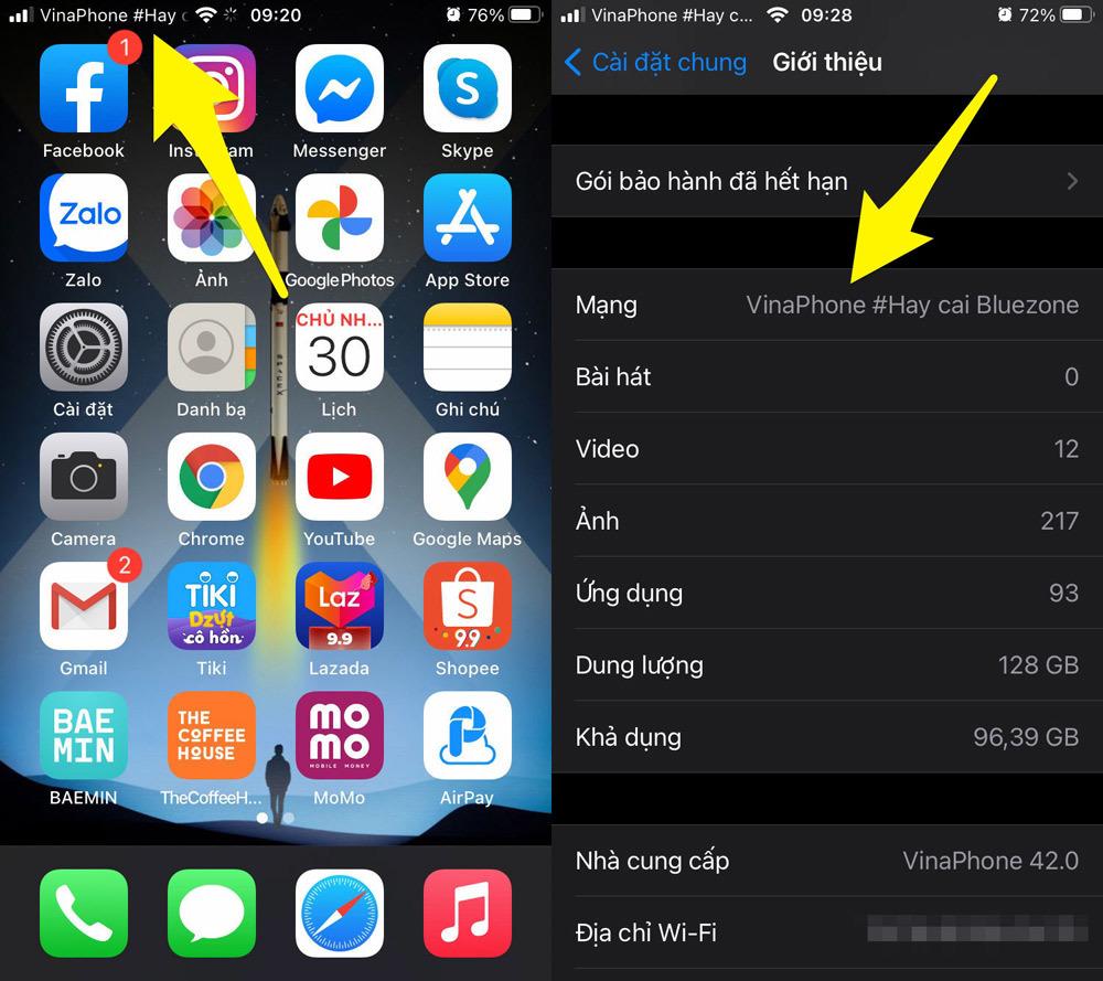 Cách kiểm tra nhanh iPhone, iPad là bản khóa mạng hay bản quốc tế