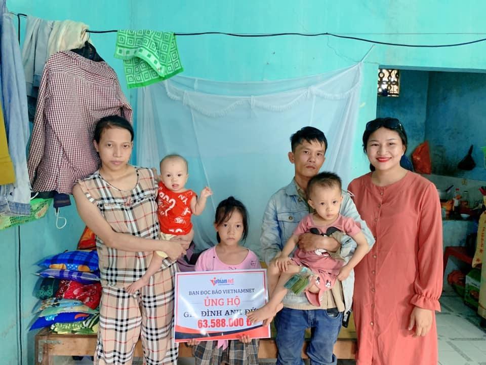 Trao hơn 63 triệu đồng tới gia đình anh Nguyễn Như Đức