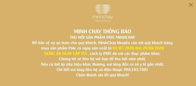 Hồ sơ công ty sản xuất pate Minh Chay