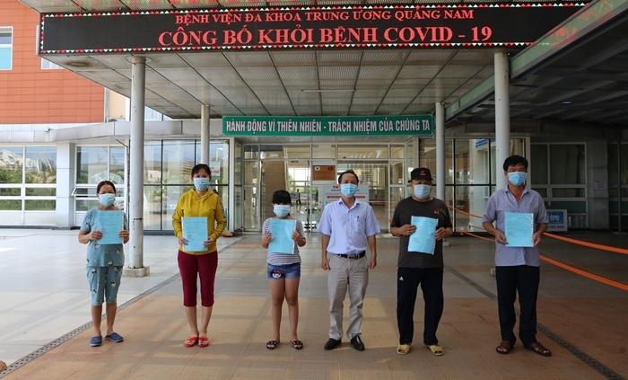 Thêm 7 bệnh nhân Covid-19 ở Quảng Nam khỏi bệnh, xuất viện về nhà