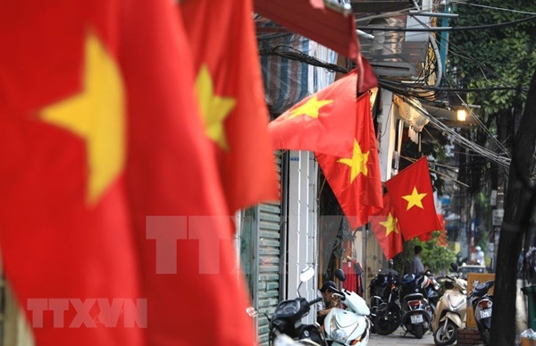 Hanoi streets colourful to celebrate National Day