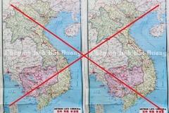 """Tiêu hủy bản đồ in """"đường lưỡi bò"""" phi pháp treo tại bốn doanh nghiệp ở Hải Dương"""