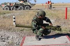 Hình ảnh đội tuyển Pháo thủ Việt Nam tranh tài tại Nga