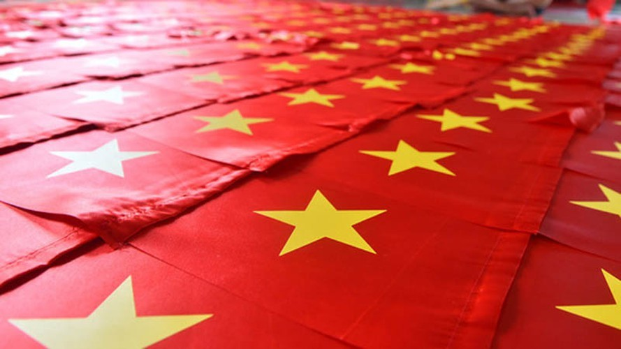 National flag making village in Hanoi