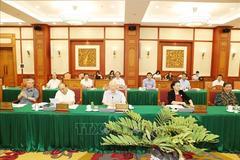 Bộ Chính trị làm việc với 10 tỉnh thành về chuẩn bị Đại hội Đảng