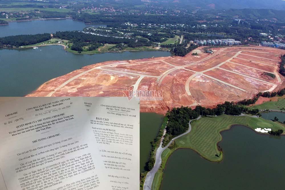 Vĩnh Phúc lên tiếng về căn cứ triển khai dự án ven hồ Đại Lải