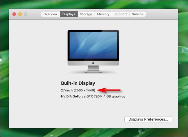 Cách xem độ phân giải màn hình trên máy Mac