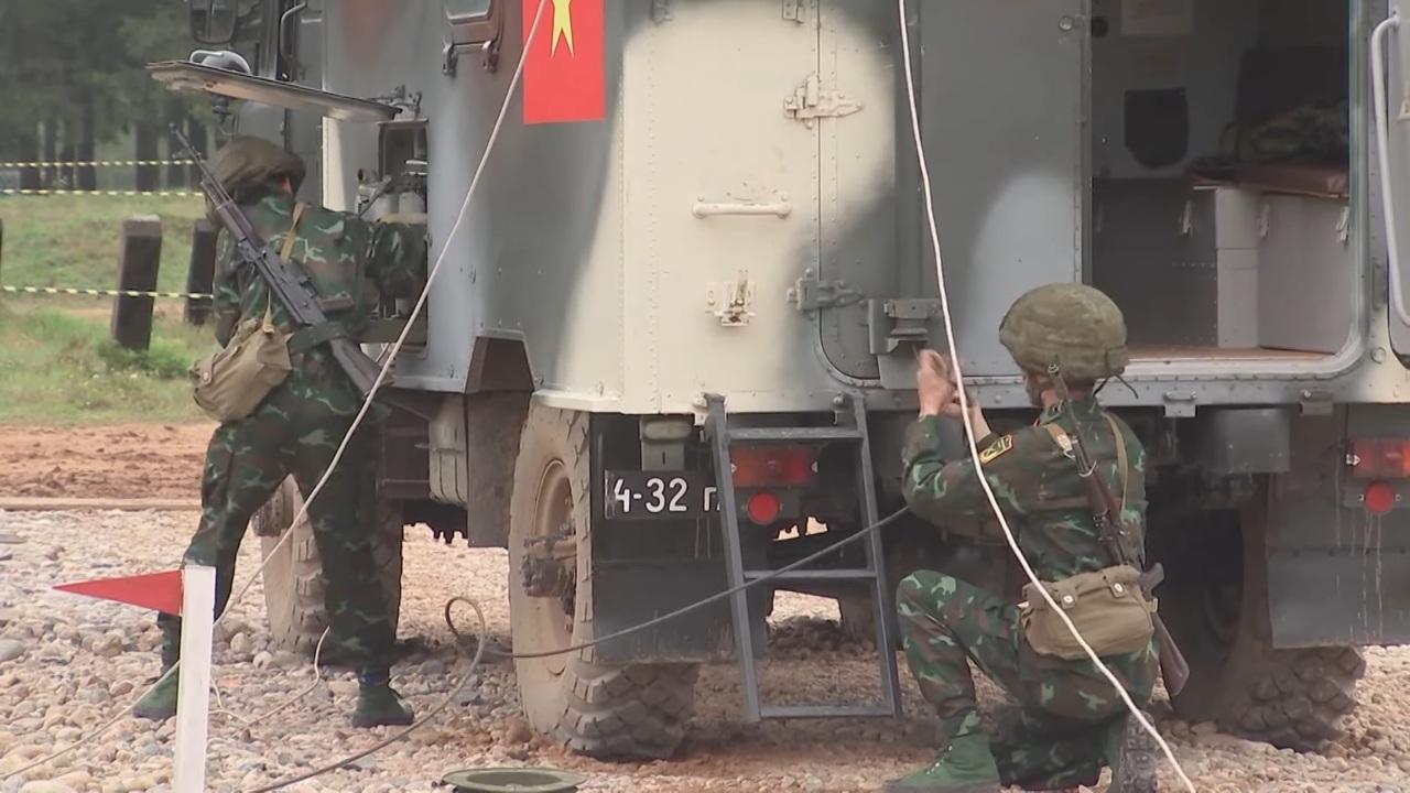 Video đội tuyển Thông tin Việt Nam tranh tài tại chung kết Army Games