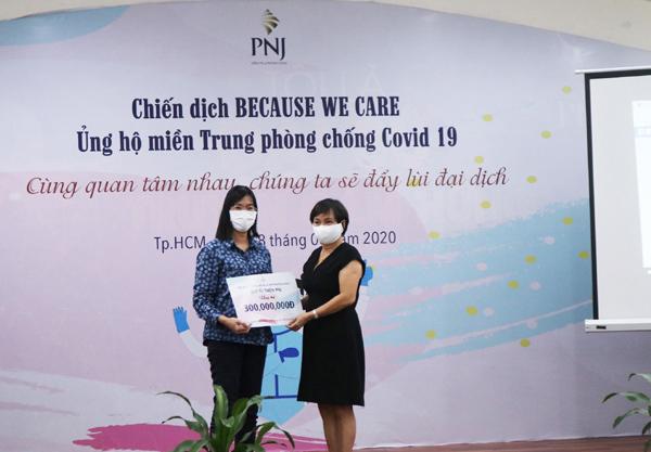 PNJ mở chiến dịch hỗ trợ miền Trung chống dịch