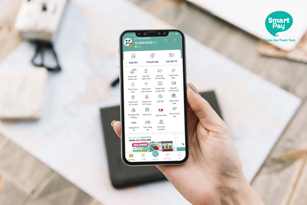 SmartPay giúp người dùng dần quen với thanh toán không tiền mặt