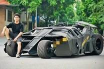 Nam sinh Đại học Kiến Trúc đầu tư 500 triệu 'bê' siêu xe BATMAN từ phim ra đời thực