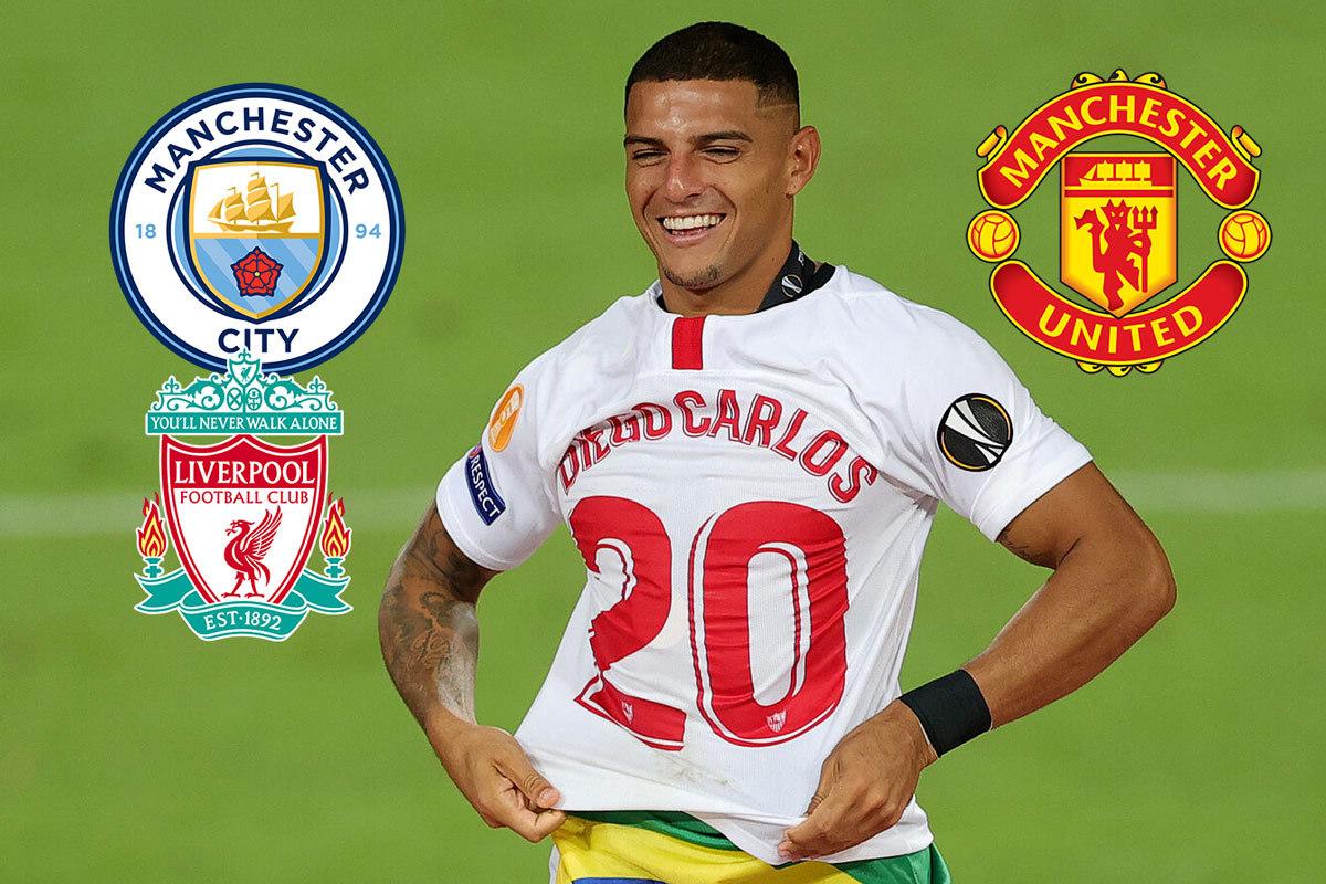MU đấu tay ba với Man City và Liverpool vì Diego Carlos