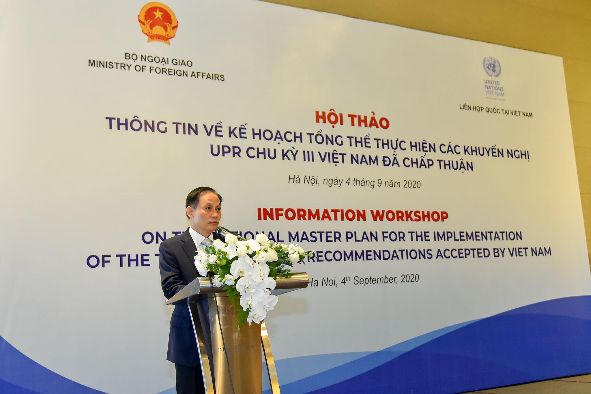 Việt Nam tăng cường các nghĩa vụ quốc tế về quyền con người