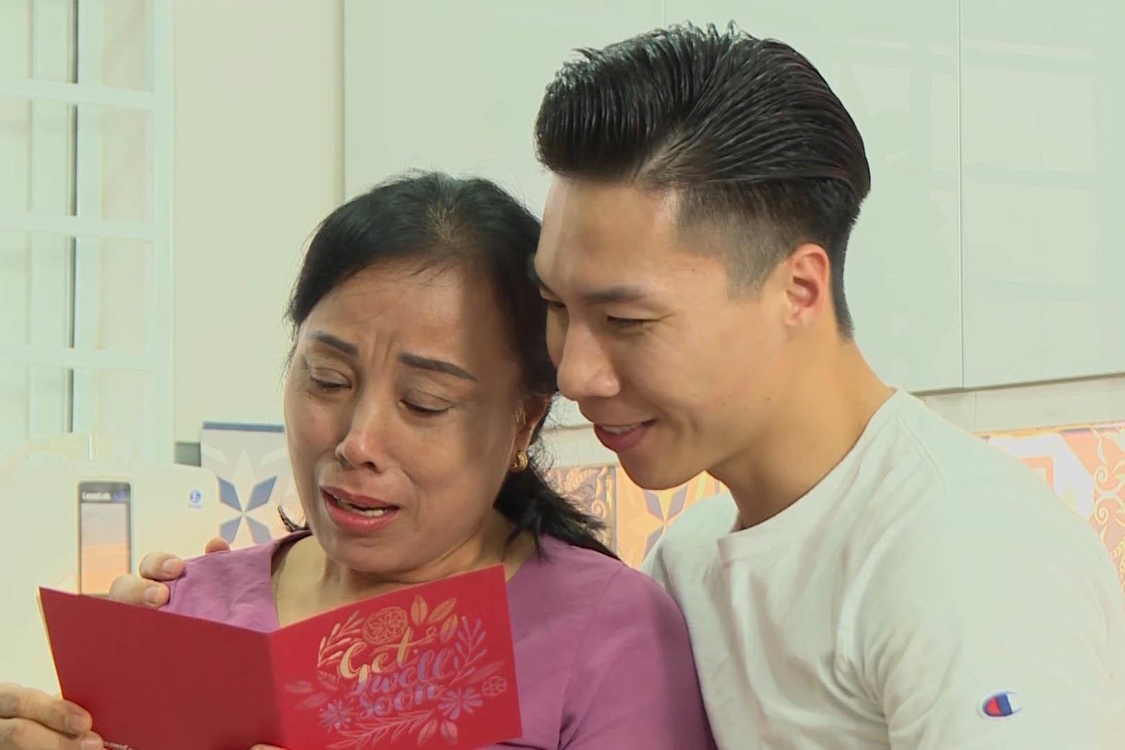 Mẹ vợ Quốc Nghiệp khóc khi lần đầu nhận được thư tay từ con rể