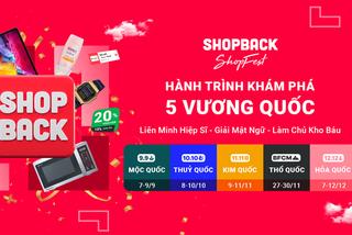 Nền tảng hoàn tiền ShopBack thu hút người dùng