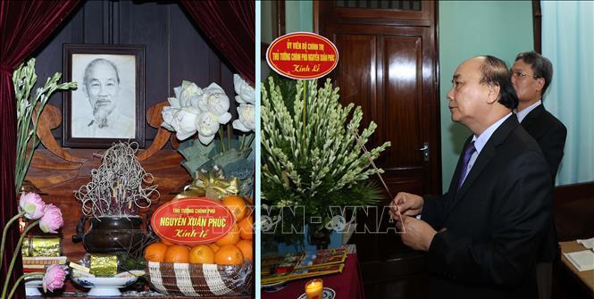 Thủ tướng Nguyễn Xuân Phúc dâng hương tưởng niệm Bác Hồ