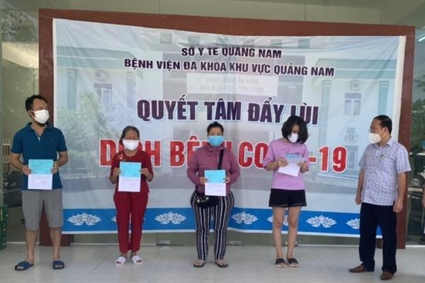 Bốn bệnh nhân Covid-19 ở Quảng Nam khỏi bệnh, xuất viện về nhà