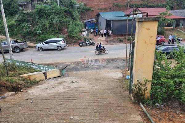 Cổng trường đè chết học sinh ở Lào Cai được xây năm 2016