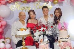 Quỳnh Nga hạnh phúc kề vai Việt Anh trong ngày sinh nhật