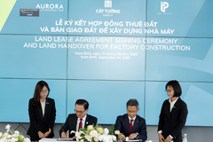 Nam Dinh-based Rang Dong Textile Industrial Park sign land lease contracts with foreign firms