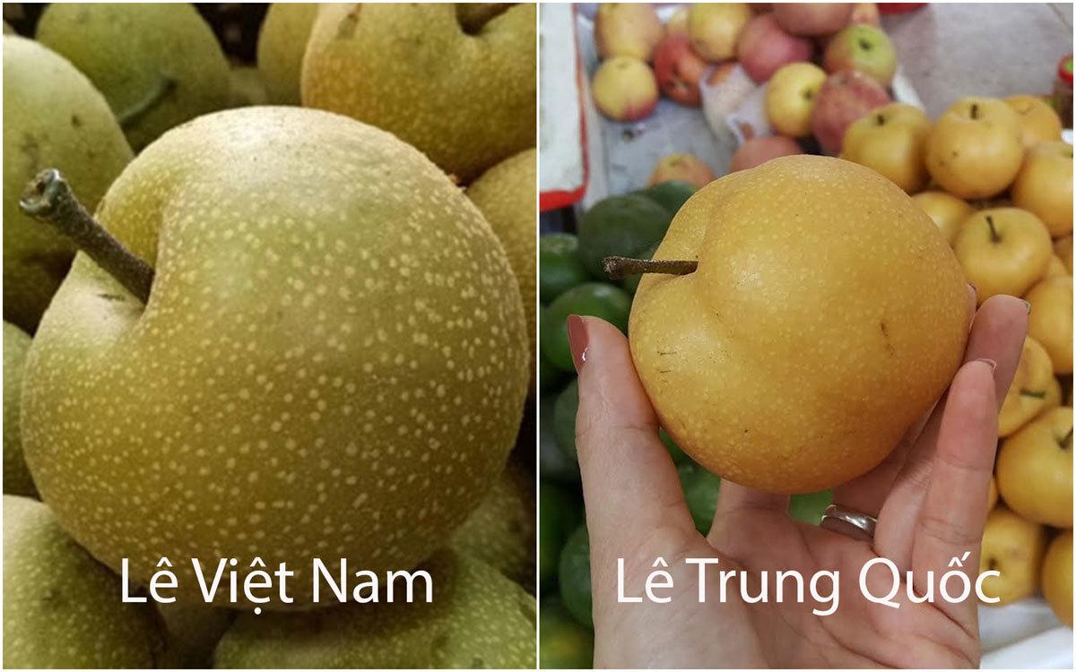 Mẹo đơn giản phân biệt lê Việt Nam và lê Trung Quốc chỉ qua mắt thường