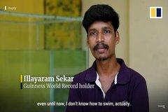Video người đàn ông Ấn Độ lập kỷ lục Guinness về giải khối rubik dưới nước