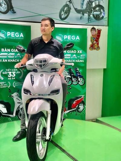 Xe ga điện Pega-S niêm yết mức giá 38,9 triệu đồng