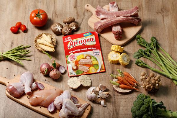 Hạt nêm Aji-ngon Heo phiên bản mới: 'đậm thịt ngọt xương'