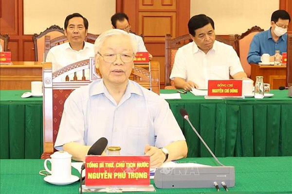 Tổng Bí thư, Chủ tịch nước chủ trì phiên họp Tiểu ban Văn kiện Đại hội XIII