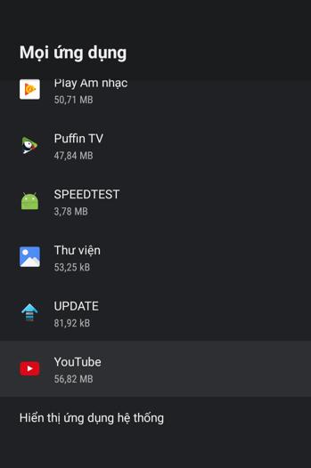 2 cách buộc dừng ứng dụng trên Android TV hoặc Android TV Box